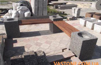Лавочки садовые, скамейки парковые, скамьи бетонные для сада, Харьков