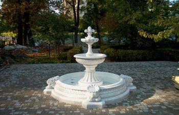 Фонтан садовый с бассейном, бетонный уличный для дачи и парка, сад, Харьков