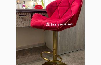 Стул барный HR111 красный велюр основа золото, Киев