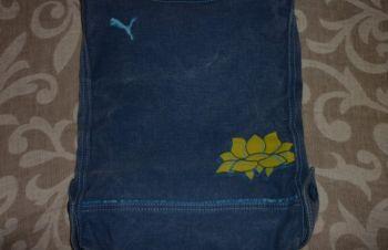 Спортивная джинсовая женская сумочка mahanuala на молнии, Киев
