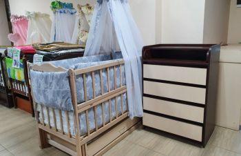 Акция!! Комплект «Все в детскую»: комод, кроватка маятник, матрас кокос, постельный, Харьков