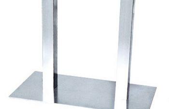 Опора (подстолье) Днестр, металл, нержавеющая сталь, высота 72 см, Днепр