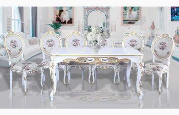 Шикарный деревянный стол Барокко со стульями для гостиной, Киев