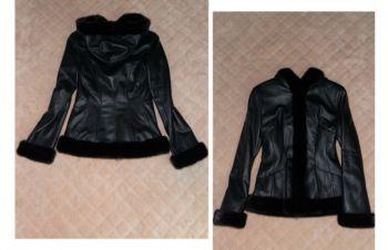 Шикарная кожаная куртка Мех Норки, Ковель