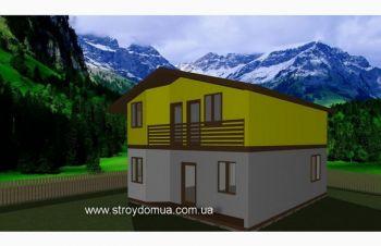 Теплый канадский дом из сип панелей в Харькове от производителя