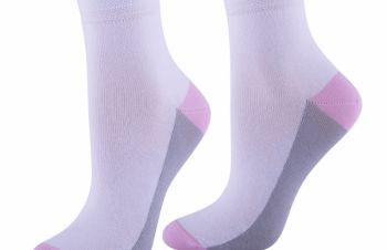 Хлопковые носки женские из цветной стопой (арт. 211К), Кривой Рог